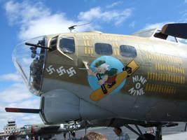 B-17G Nine-O-Nine Nose Art by Aya-Wavedancer