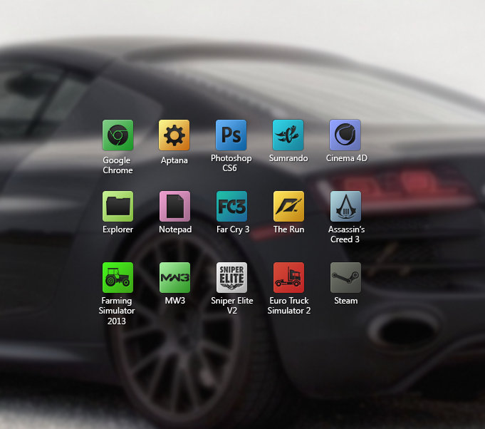 Desktop icons by dj-hacker