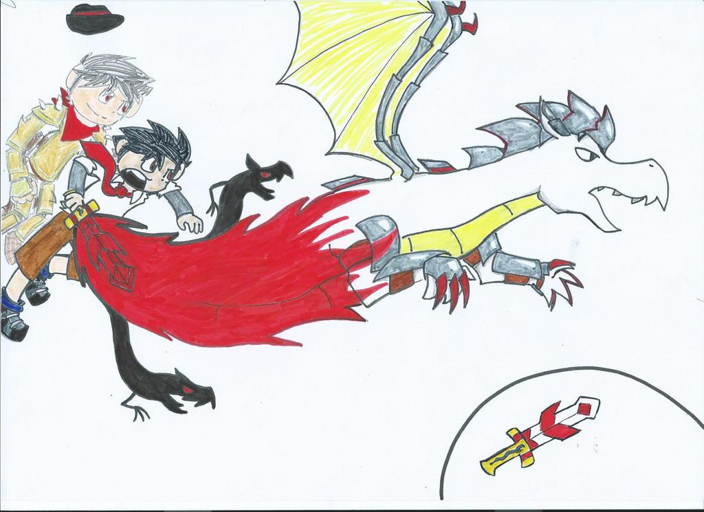 Dark Light Drawing #2 : Power of the Past by Hokyokkugitsune