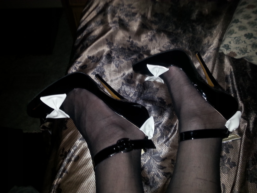 6 Inch High Heel Bow Pumps 04 by Allyssa19