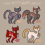 [OPEN] Kitty Adopts batch #1 by FeistyIguanas