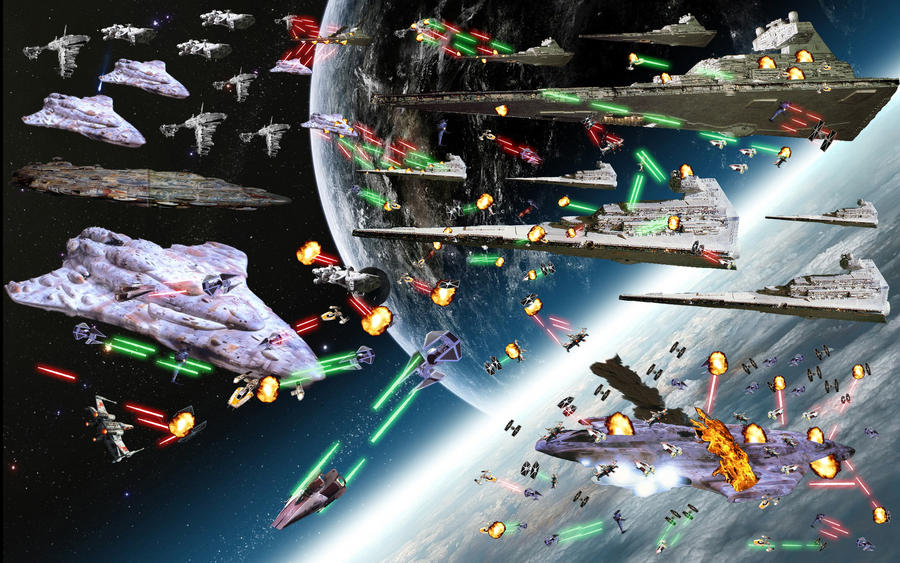 Star wars, space battle of Earth! by AskAsumotoYoshikage ...