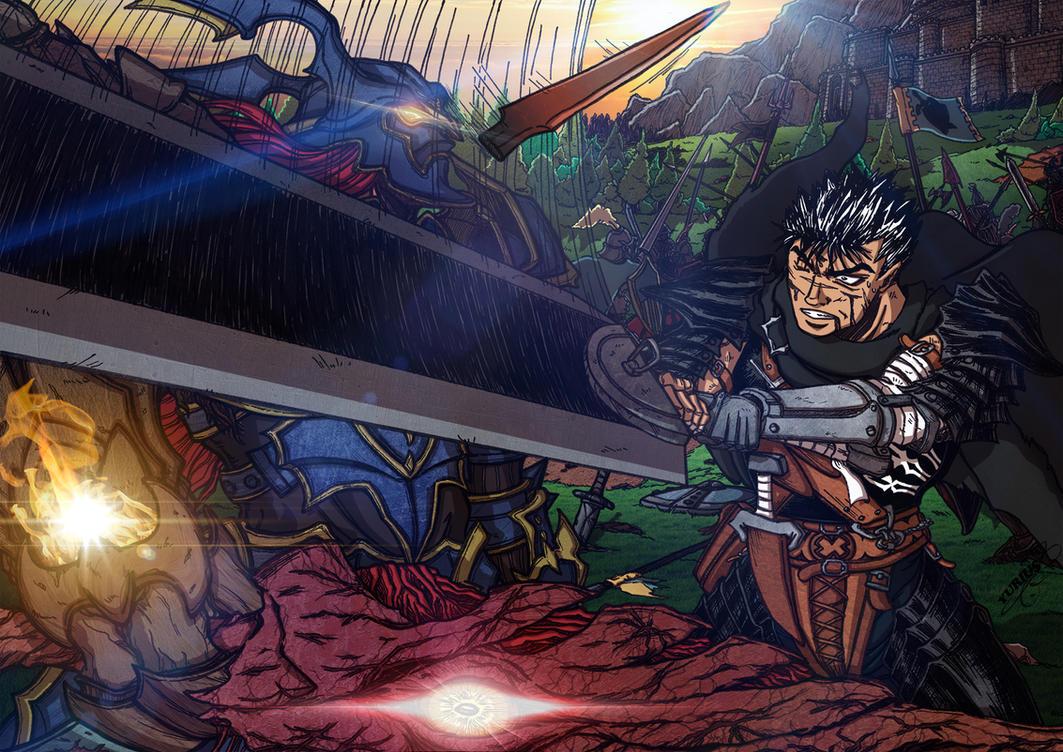 The Azure Nightmare vs the Black Swordsman by Yurius06