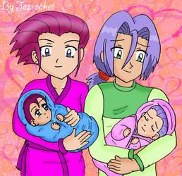 Jessie, James and their twins by Jezrocket
