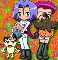 Chibi cute XY Team Rocket by Jezrocket