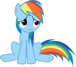 depressed Rainbow Dash is depressed.