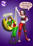 Dick Grayson VS Harley Quinn Wedgie