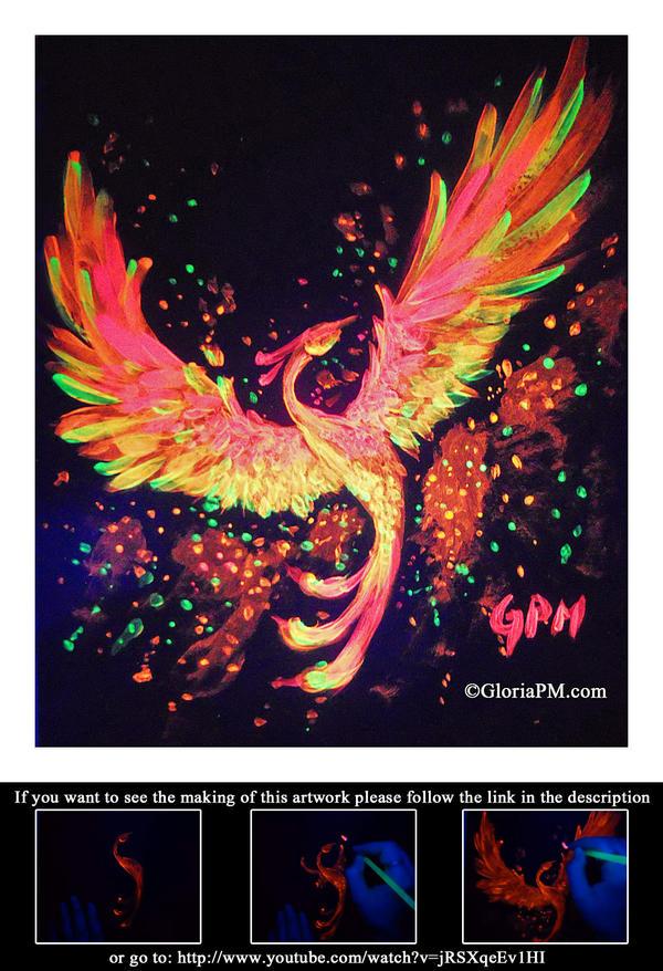 Neon Painting- Phoenix by GloriaPM on DeviantArt