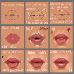 Lips Step by Step by GloriaPM