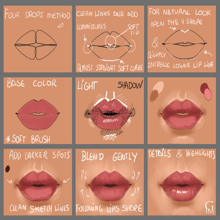 photoshop how to add lip color