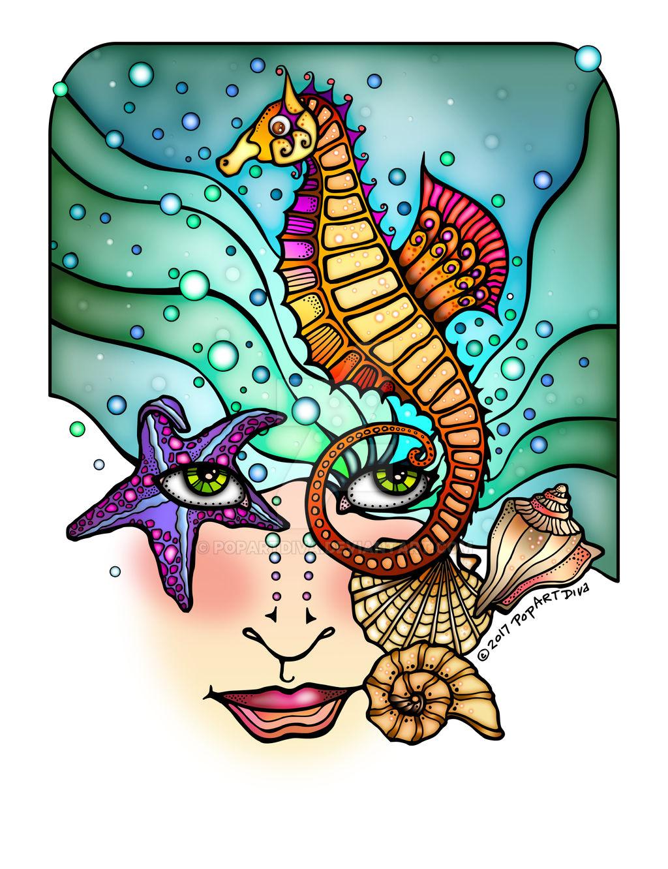 OCEAN VISIONS MERMAID Art