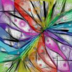 KALEIDOSCOPE DRAGONFLY ABSTRACT ART