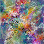 PAINT STAINED ABSTRACT ART