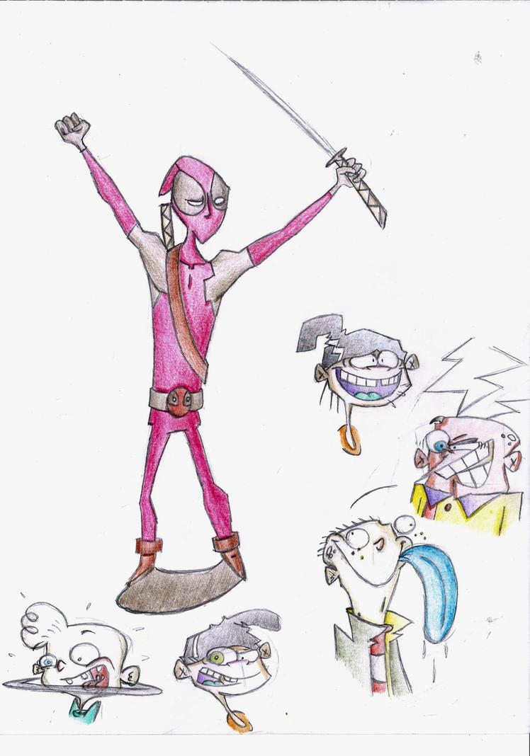 Deadpool and Ed Edd n Eddy by mayr1994