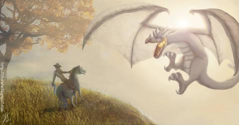 Cowboy vs Dragon by Tureta