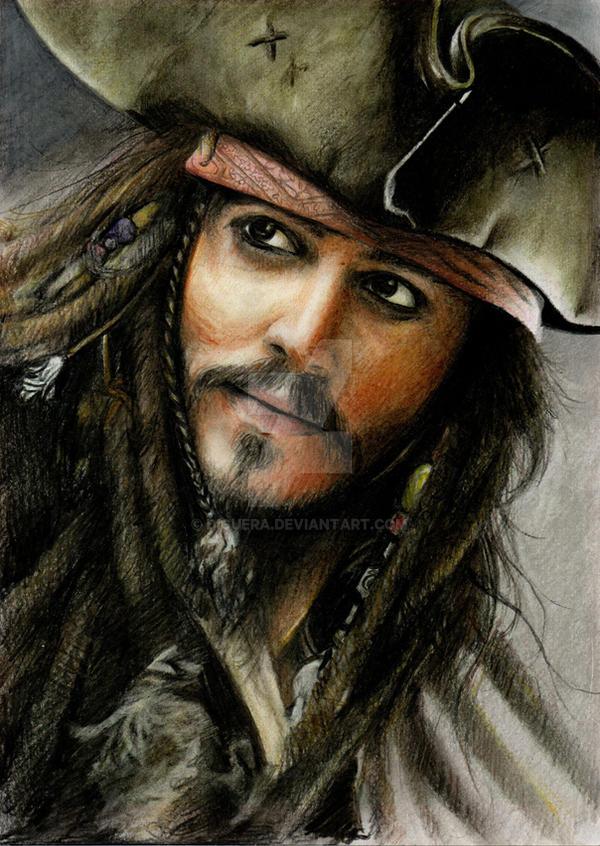 Jack Sparrow - Color pencils by Diguera