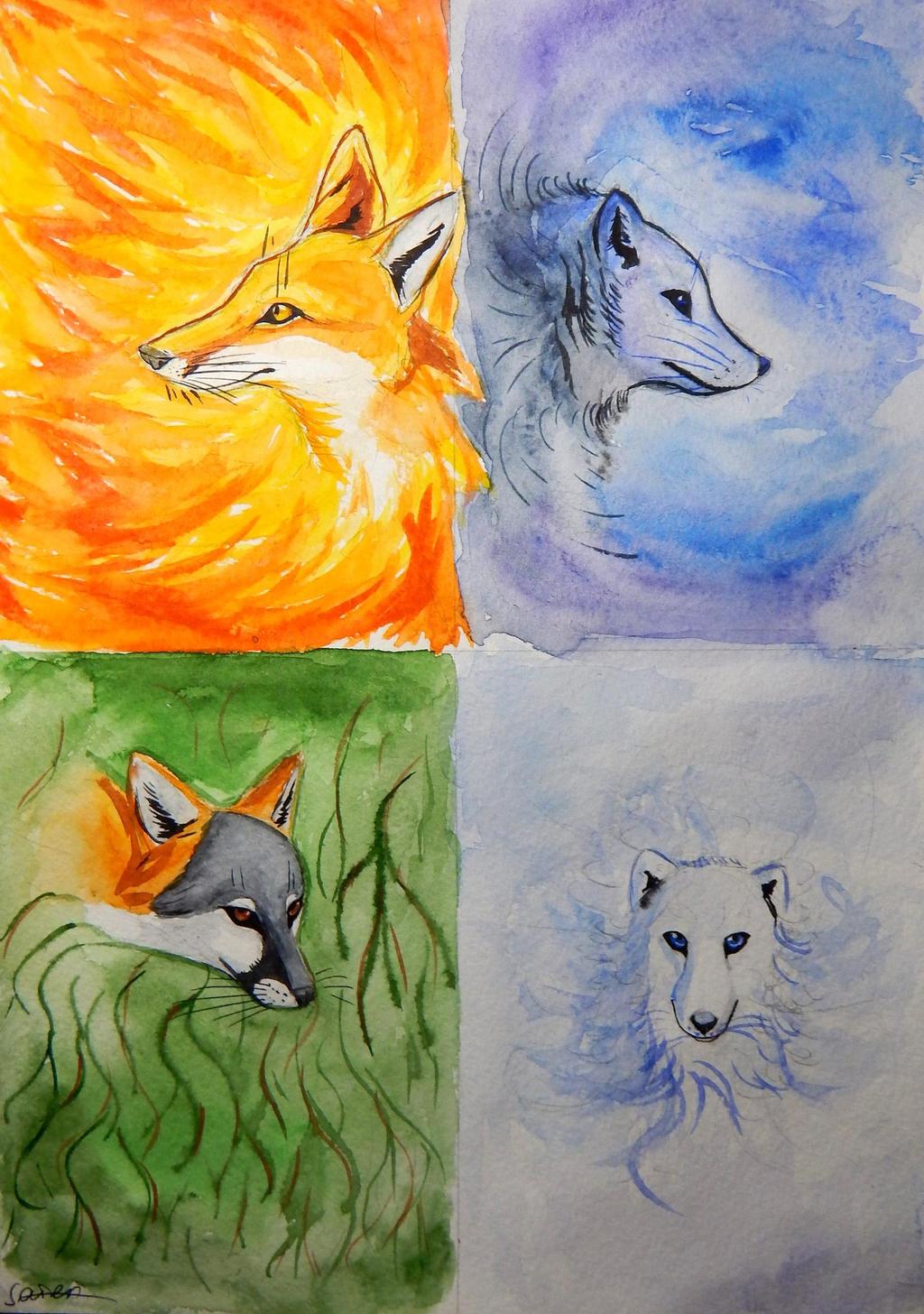 4 Elements Of Art : Four elements by tavera s on deviantart
