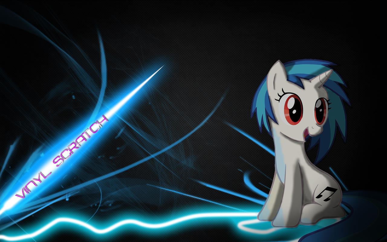 Vinyl Scratch Wallpaper by Woodyz611