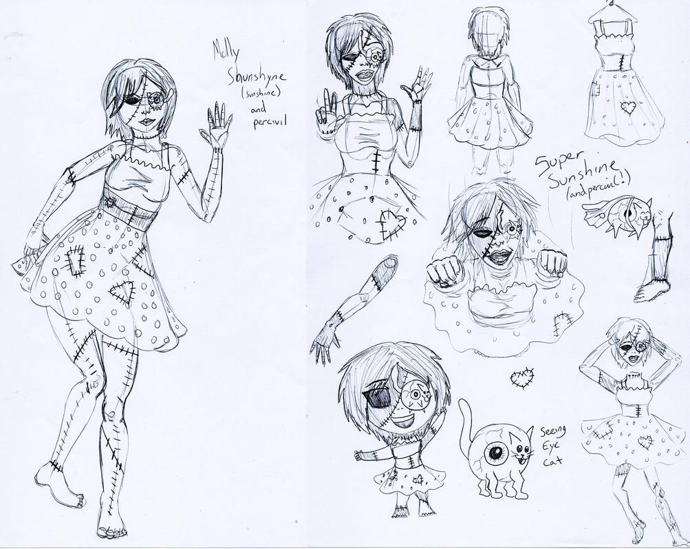 Molly Sunshine and Percevil Poppet by Shakahnna