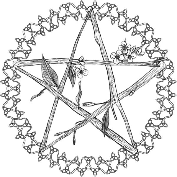 Celtic Pentagram Flowery By Flamedraconian On DeviantArt