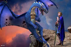 Blue Dragon Rider by Rowdy-Dawg