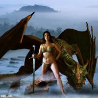 Dragon Maiden by Rowdy-Dawg