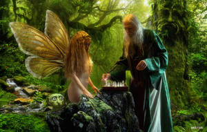 Magic Forest Chess Match by Rowdy-Dawg