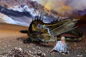 Dragon and Damsel by Rowdy-Dawg