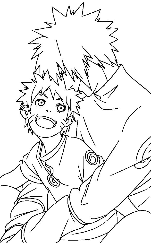 Naruto Lineart : Minato and naruto lineart by sivillya on deviantart