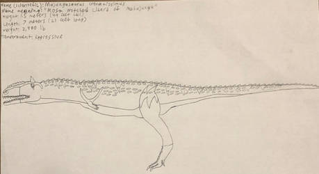 PP profile #66 Majungasaurus