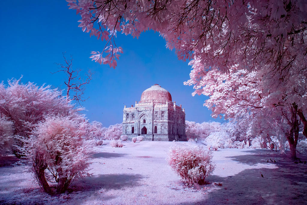 Sheesh Gumbad Infrared Photo by nimitnigam