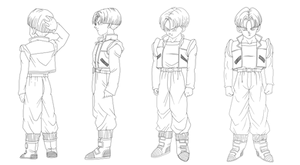 08 Lineart - Adult Trunks DBZ