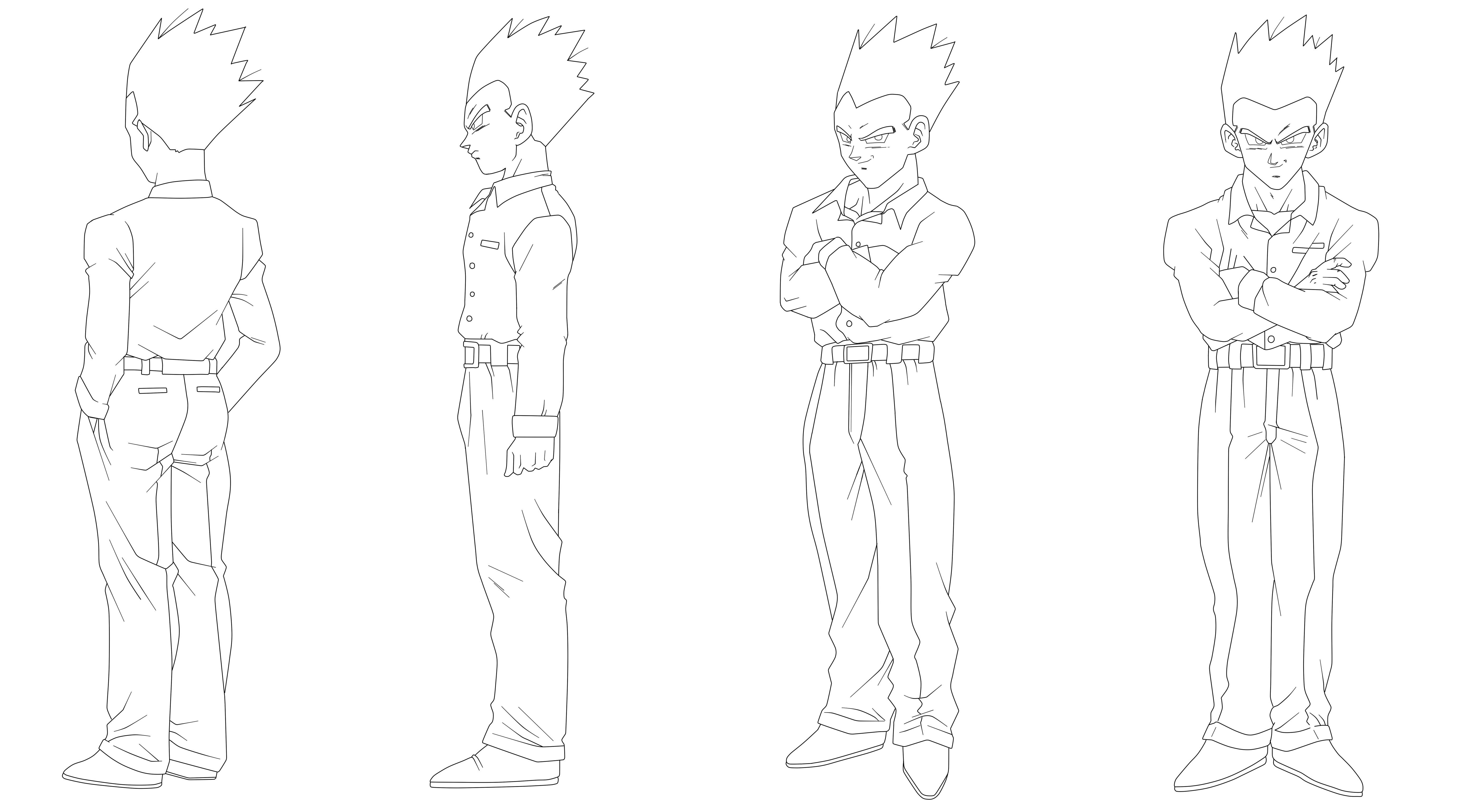 22 Lineart - Gohan GT by keikuro