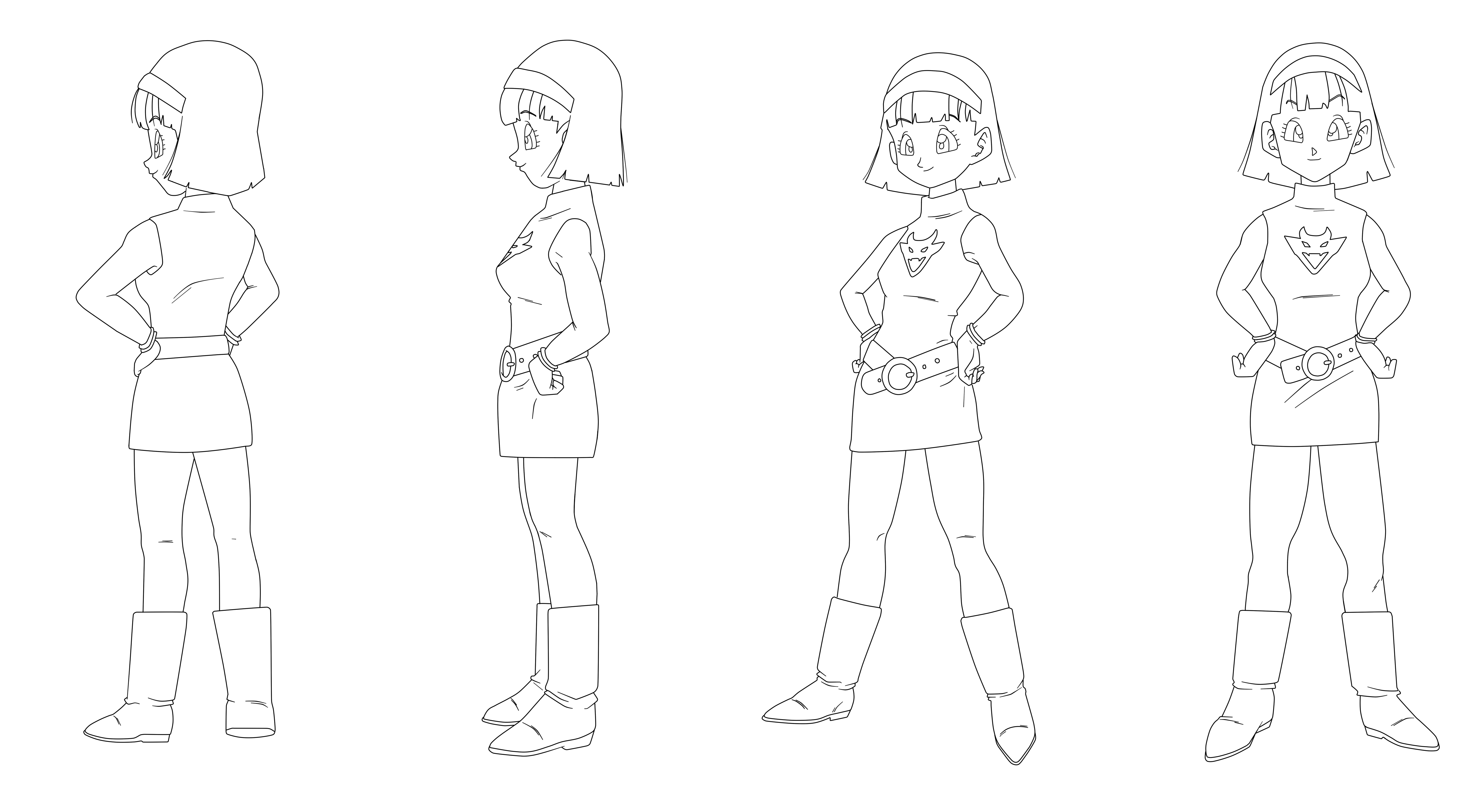 33 Lineart - Videl [Battle of Gods] by keikuro on DeviantArt