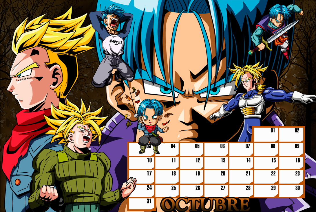 01 Trunks Calendar_October by keikuro