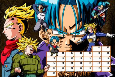01 Trunks Calendar_October by keikuro