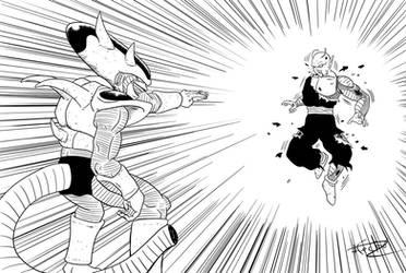 Freezer VS. Piccolo by keikuro
