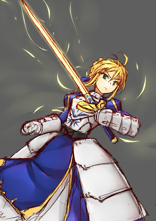 fate zero saber by MUSHIboyHANN