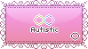 I am Autistic Stamp by faetherflight