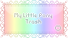 My Little Pony Trash Stamp by faetherflight
