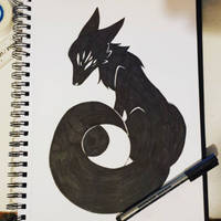 {Inktober} Moon Goddess by faetherflight