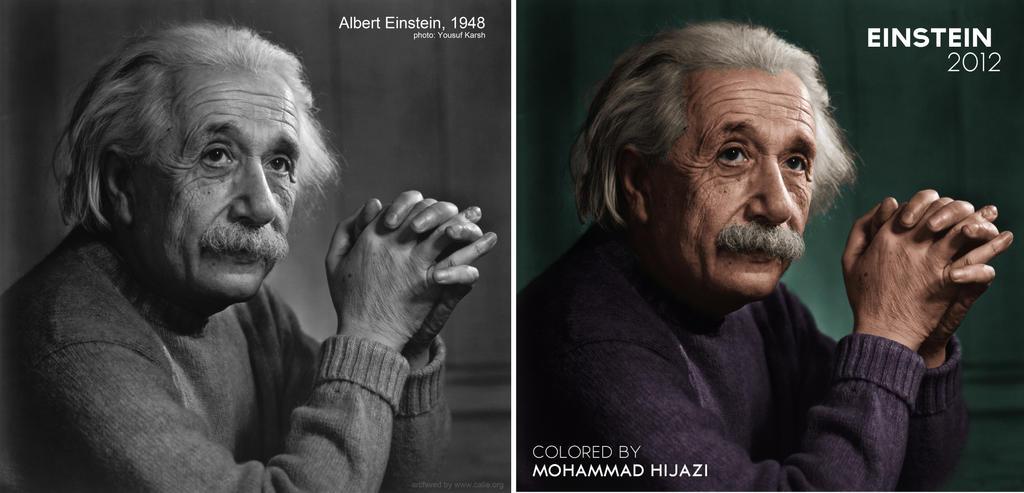 Einstein Colorized by 7jazi