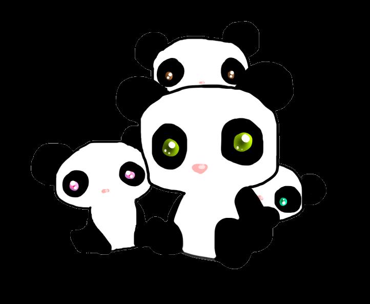 Cute chibi panda drawing