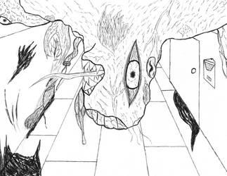Inktober-walking flesh by thee-a-10