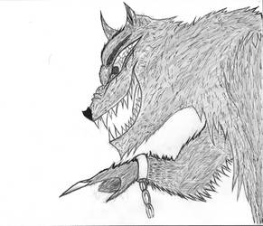 inktober-Big Bad Wolf by thee-a-10
