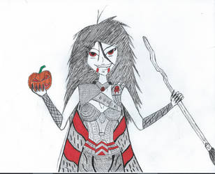 Inktober- The queen of Halloween by thee-a-10