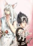 YOUKO KURAMA and HIEI