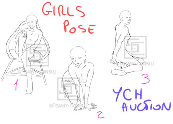 YCH: 3 Girls Poses [OPEN] by Samy-Consu