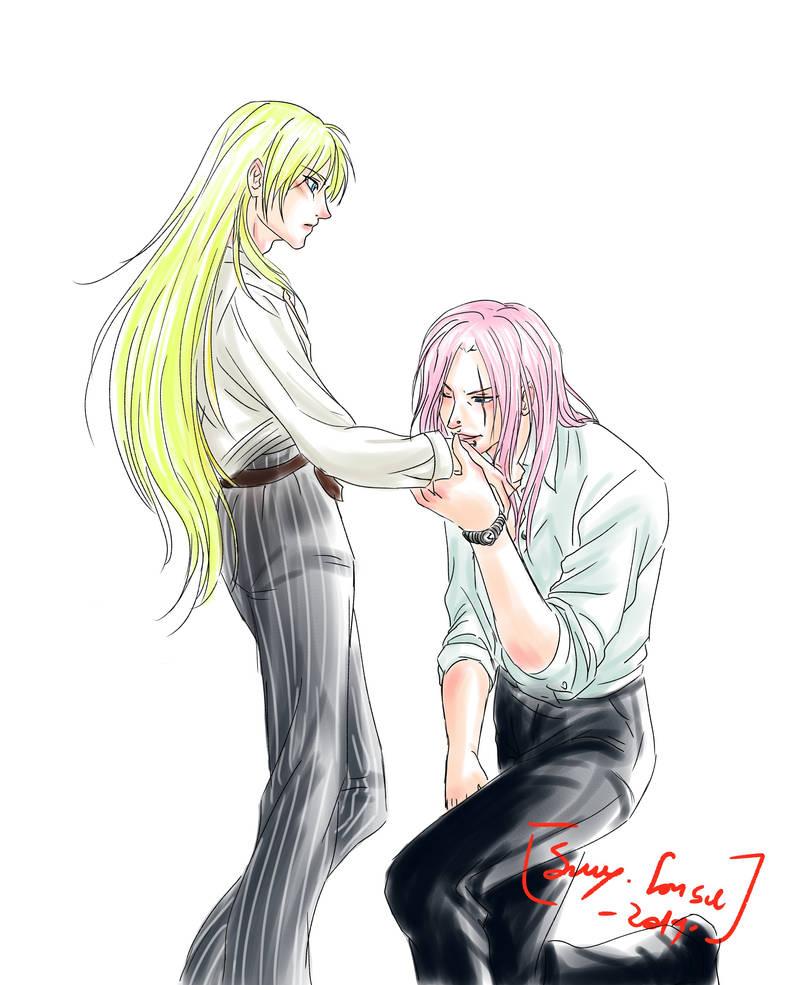 Sketch Comm: Hikaru x Asher by Samy-Consu