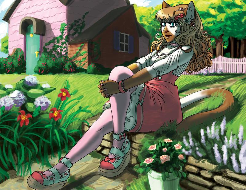 Garden Lolita by mountainlaurelarts
